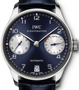 Swiss IWC Portuguese Blue Dial Replica Watches For Men