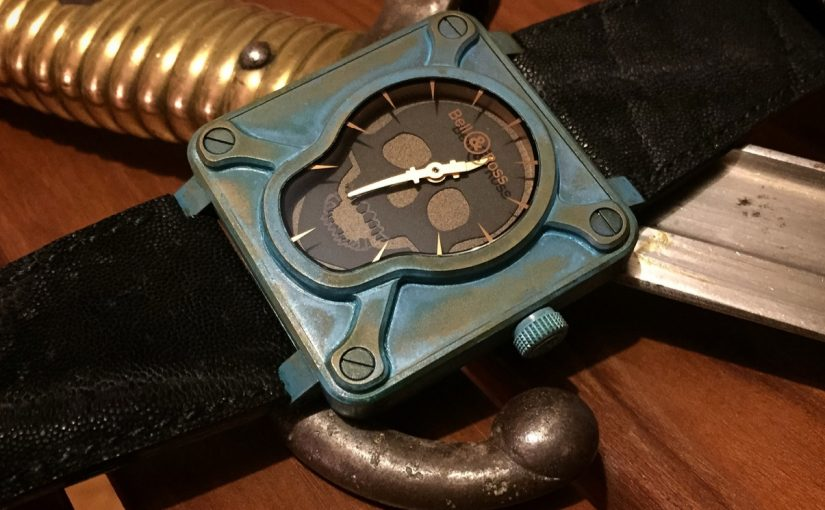 Unique Skull-Shape Dials For Bell & Ross Instruments Fake Watches For Thanksgiving Sale