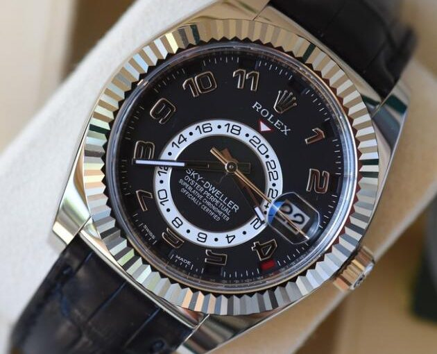 42MM White Gold Cases For Classic Rolex Sky-Dweller 326139 Replica Watches For Christmas Day