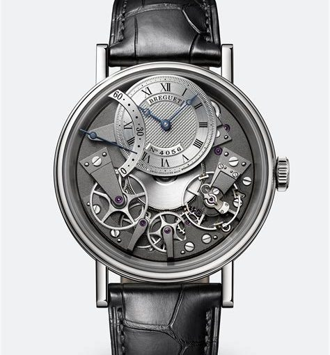 Complicated Mechanisms For Classic Breguet Tradition Replica Watches With Black Leather Straps