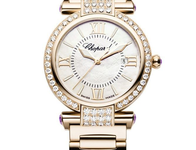 Small-Sized Chopard Imperiale Replica Watches With Shiny Rose Gold Bracelets