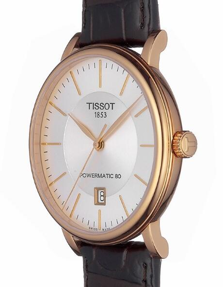 Swiss imitation watches online are treated with rose gold coating.