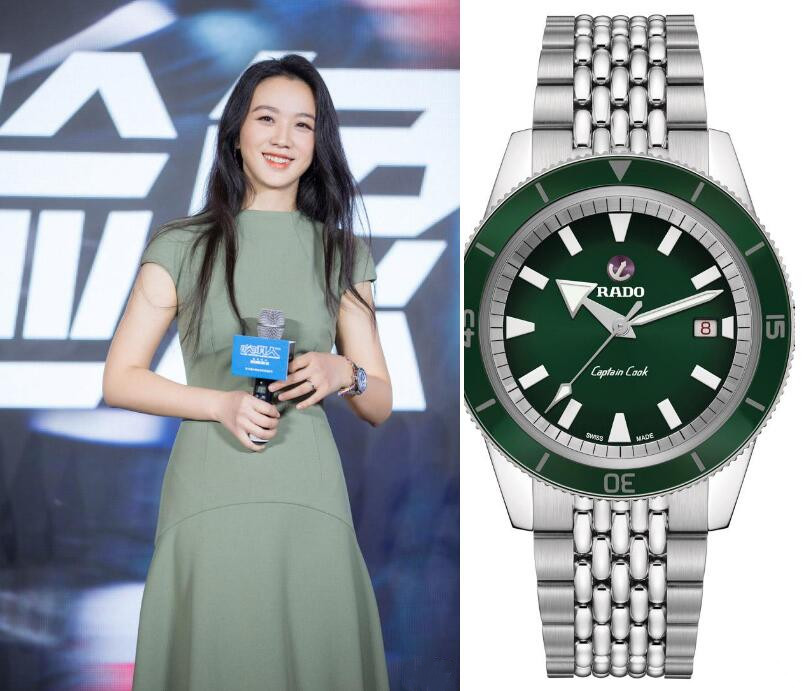 Swiss-made replication watches are fancy with green color.