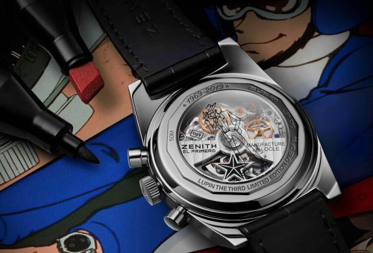 Interesting Zenith El Primero A384 Lupin The Third Limited Edition Replica Watches For Anime