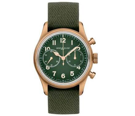 The green tone endows the timepiece with retro style.