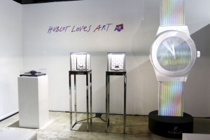 MIAMI BEACH, FL - NOVEMBER 30:  A general view of atmosphere at the Hublot Art Basel kick off reception unveiling artist Carlos Cruz-Diez's Classic Fusion collection at Espace Expression Gallery on November 30, 2015 in Miami Beach, Florida.  (Photo by John Parra/Getty Images for Hublot)