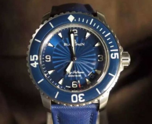 Swiss Blancpain Fifty Fathoms Blue Dial Replica Watches For Men