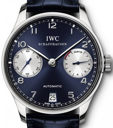 403404a0bab Swiss IWC Portuguese Blue Dial Replica Watches For Men