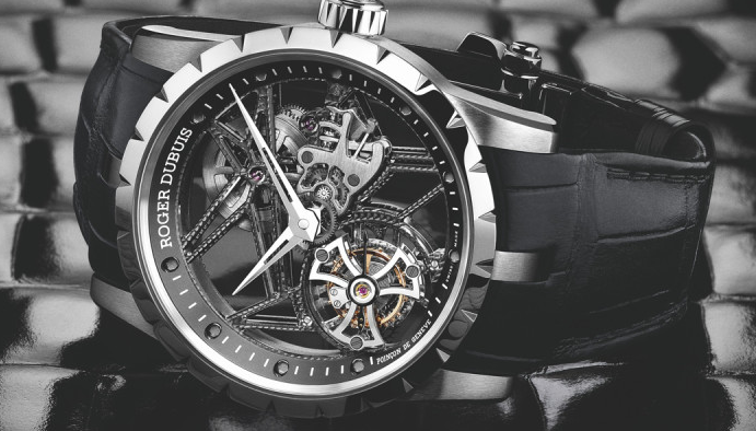 Unique Roger Dubuis Excalibur Skeleton Flying Tourbillon Replica Watches