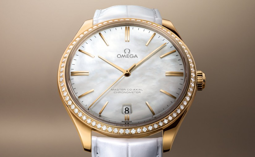 White Leather Straps Grace Fake Omega De Ville Trésor Watches