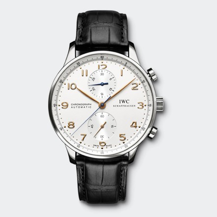 IWC Portugieser Replica Watches With Black Leather Straps