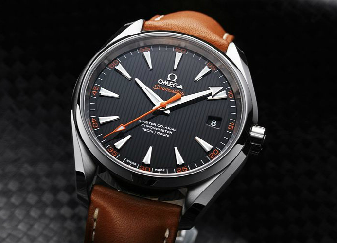 Brown Leather Straps Omega Seamaster Aqua Terra 150M Copy Watches