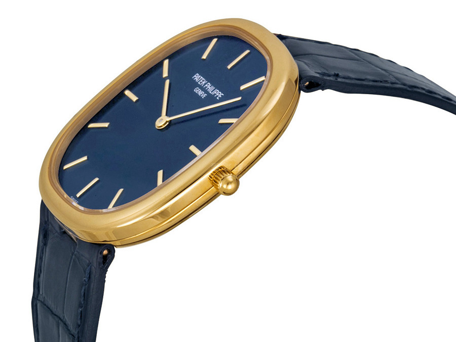 Patek Philippe Golden Ellipse Replica Watches With Golden Cases