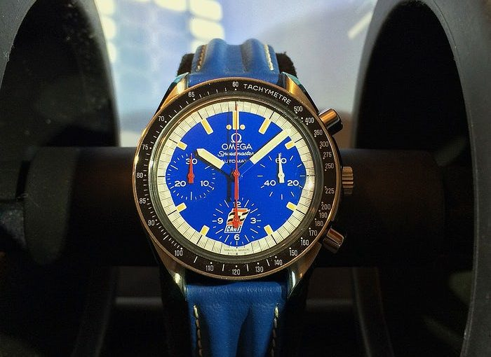 Paul Newman's Blue Dial Replica Omega Speedmaster Replica Watches Show To You