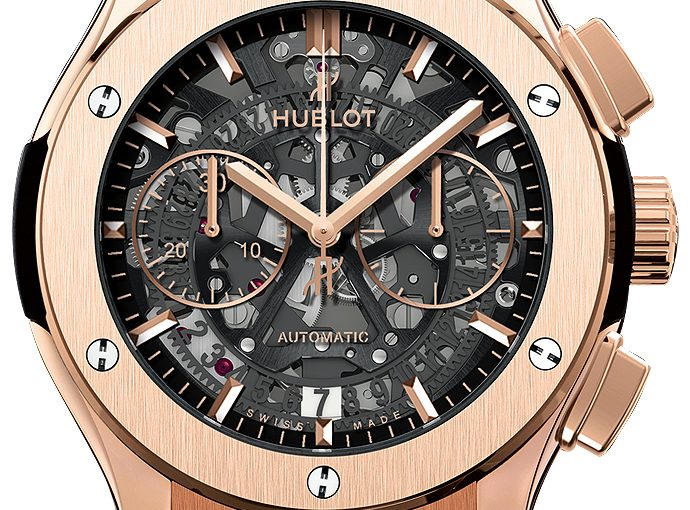 45MM Hublot Classic Fusion Knockoff Watches With Black Leather And Rubber Straps For Cheap Sale