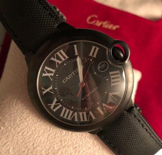 Secure Black Straps Ballon Bleu De Cartier Knockoff Men's Watches Of Decent Styles