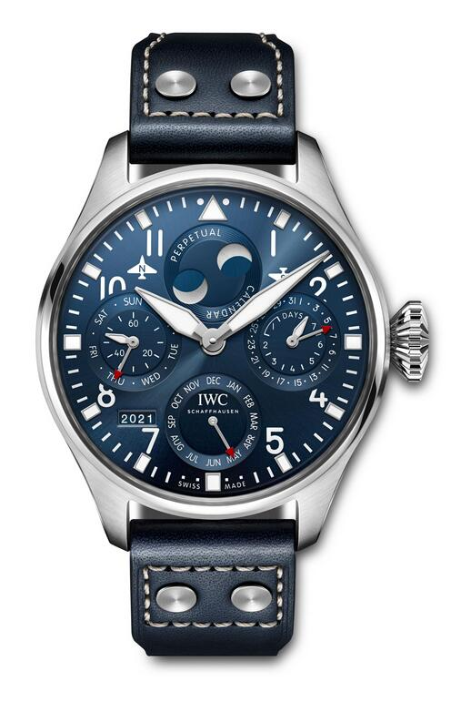 Swiss replica watches are featured with white Arabic numerals.