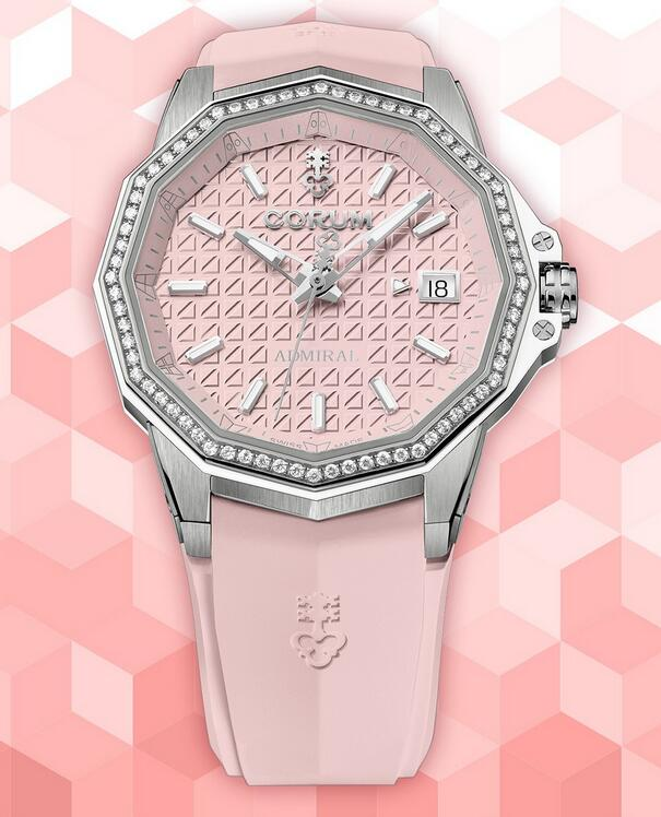 AAA fake watches are favored by ladies with pink color.